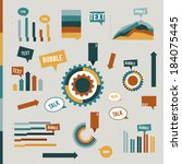 infographic flat collection of... | Shutterstock .eps vector #184075445