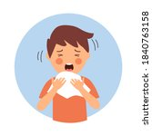 a boy children suffering from...   Shutterstock .eps vector #1840763158