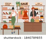 fashion shop interior with... | Shutterstock .eps vector #1840789855