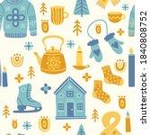 seamless pattern in... | Shutterstock .eps vector #1840808752