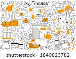 finance doodle set. collection...   Shutterstock .eps vector #1840823782