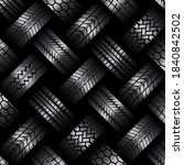 black background with different ... | Shutterstock . vector #1840842502