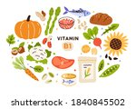 collection of vitamin b1... | Shutterstock .eps vector #1840845502