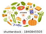 collection of vitamin a sources.... | Shutterstock .eps vector #1840845505