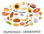 collection of vitamin b3... | Shutterstock .eps vector #1840845955