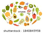 collection of vitamin c sources.... | Shutterstock .eps vector #1840845958