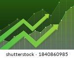profit money or budget. cash... | Shutterstock .eps vector #1840860985