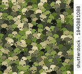 Camouflage Woodland Green Scull ...