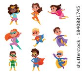 cute boys and girls in... | Shutterstock .eps vector #1840881745