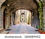 Arched Medieval Street In The...