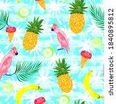 cute summer seamless pattern ... | Shutterstock . vector #1840895812