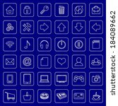 set of flat icons for e...