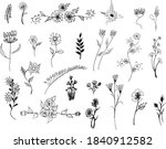 big set of beautiful hand drawn ...   Shutterstock .eps vector #1840912582