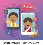 cartoon indian people having... | Shutterstock .eps vector #1840937695