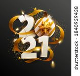 new years 2021. greeting card... | Shutterstock .eps vector #1840939438