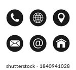 round contact and communication ... | Shutterstock .eps vector #1840941028