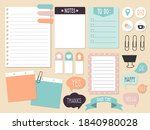 blank paper notes  pastel... | Shutterstock .eps vector #1840980028