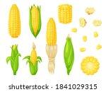 Cartoon Corn Agriculture Meal...