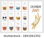 calendar 2021. monthly calendar ...   Shutterstock .eps vector #1841061352