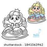 cute cartoon princess doll...   Shutterstock .eps vector #1841063962