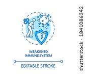 weakened immune system concept... | Shutterstock .eps vector #1841086342