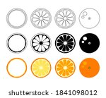 orange tangerine grapefruit... | Shutterstock .eps vector #1841098012