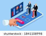 isometric online voting and... | Shutterstock . vector #1841108998