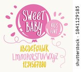 kids font. typography alphabet... | Shutterstock .eps vector #1841129185
