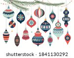 christmas ornaments collection... | Shutterstock .eps vector #1841130292