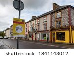 Small photo of Listowel, Ireland - 24th October 2020: Quite streets in the town of Listowel during 2nd nationwide lockdown due to covid-19 pandemic