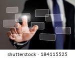 touch screen interface... | Shutterstock . vector #184115525