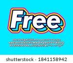 3d layered pop text effect.... | Shutterstock .eps vector #1841158942