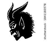krampus. scary krampus. horned... | Shutterstock .eps vector #1841183578