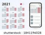 calendar app for cell phone ...   Shutterstock .eps vector #1841196028