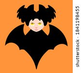 Bat Girl With Yellow Eyes