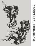 flaming pistons | Shutterstock .eps vector #184120082