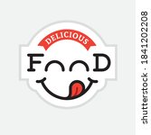 yummy food logo with funny... | Shutterstock .eps vector #1841202208