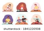 preparing food. characters... | Shutterstock .eps vector #1841220508