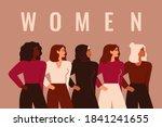 strong five women and girls of...   Shutterstock .eps vector #1841241655