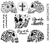 mexican holiday day of the dead ... | Shutterstock .eps vector #1841244175