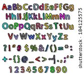 alphabet and numbers | Shutterstock . vector #184125575