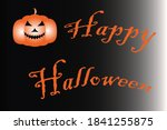 happy halloween with a scary... | Shutterstock . vector #1841255875