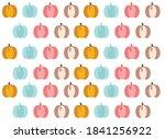 colored pumpkins  cute vector... | Shutterstock .eps vector #1841256922