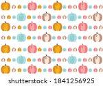 colored pumpkins  cute vector... | Shutterstock .eps vector #1841256925