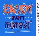 hand drawn motivational... | Shutterstock .eps vector #1841265835