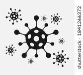 coronavirus 2019 ncov black and ...   Shutterstock .eps vector #1841266372