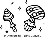 magic mushrooms and stars with... | Shutterstock .eps vector #1841268262
