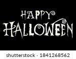happy halloween card background ... | Shutterstock .eps vector #1841268562