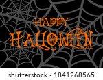 happy halloween card background ... | Shutterstock .eps vector #1841268565