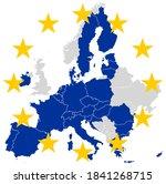 european union europe map... | Shutterstock .eps vector #1841268715